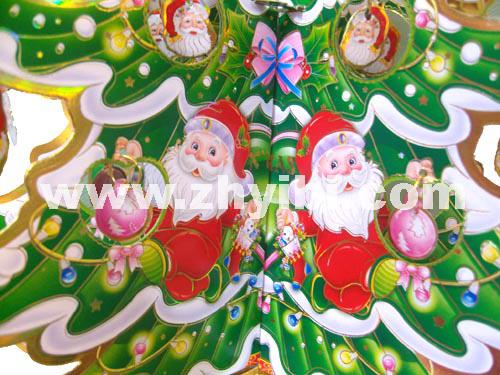 圣诞贴画 贴画 折叠圣诞树